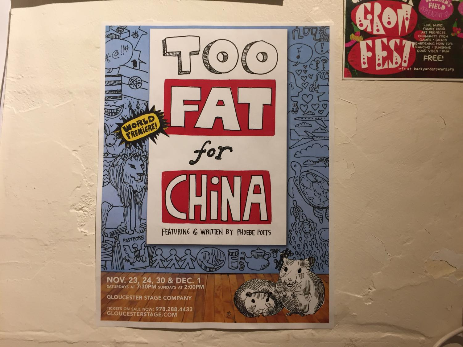 Poster advertising Potts' show features her own artwork.