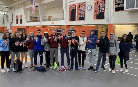 The GHS Freshman-Sophomore track team at Beverly High