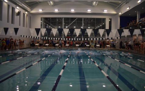 Swimmers compete at St. John's Prep for the NEC meet last week