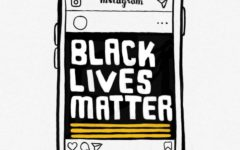 The artist's depiction of a smartphone with Instagram open. Many people's Instagram feeds have been flooded with displays of social media activism since the murder of George Floyd.
