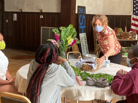 Chef and Author Nina Simonds at an organic farm visit with internship students.
