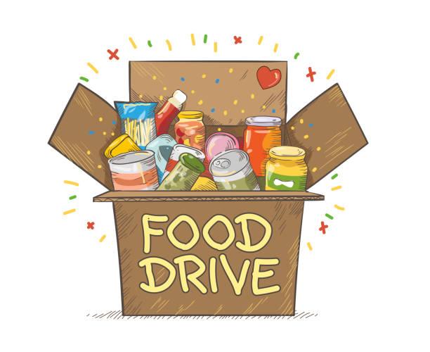 Food+Drive+charity+movement+symbol+vector+illustration