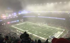 A foggy Gillette Stadium before kick off in the 2019 Wild Card round