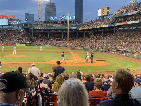 The Boston Red Sox play the Tampa Bay Rays in August 2019