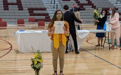Gillnetter Editor-in Chief Mila Barry was  recognized for her  outstanding scholarship at NHS inductions.
