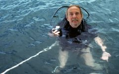 Mr. Pleuler enjoys a dive in Smogazig. He will be missed dearly by the GHS Community.
