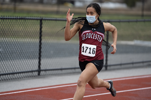 Junior Darcy Muller was named NEC Athlete of the Year for her performance during indoor track season this year.