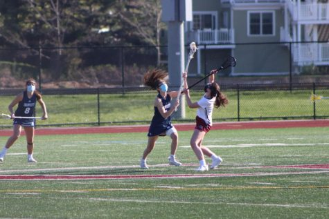 Faith Brown battles with Swampscott opponent in Monday