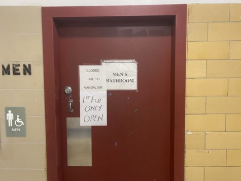 Second floor bathroom closed due to vandalism inspired by the TikTok Devious Lick challenge