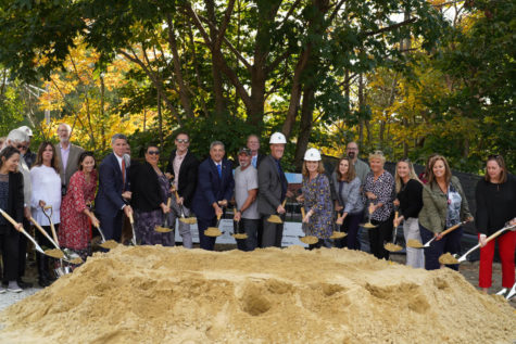 School, city and state officials break ground on the site of the new combined elementary school.